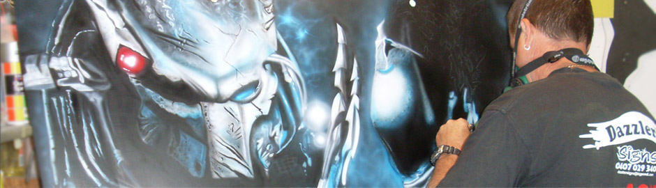 Predator airbrush artwork