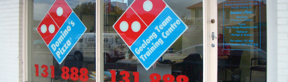 Dominos Pizza shop front